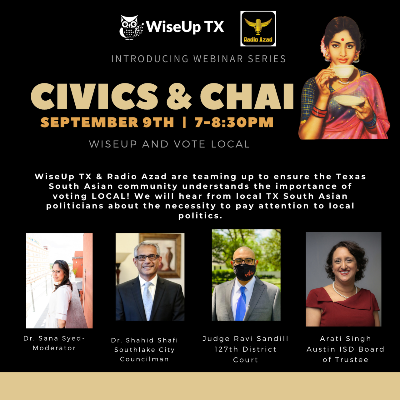 Civics & Chai: WiseUp and Vote Local